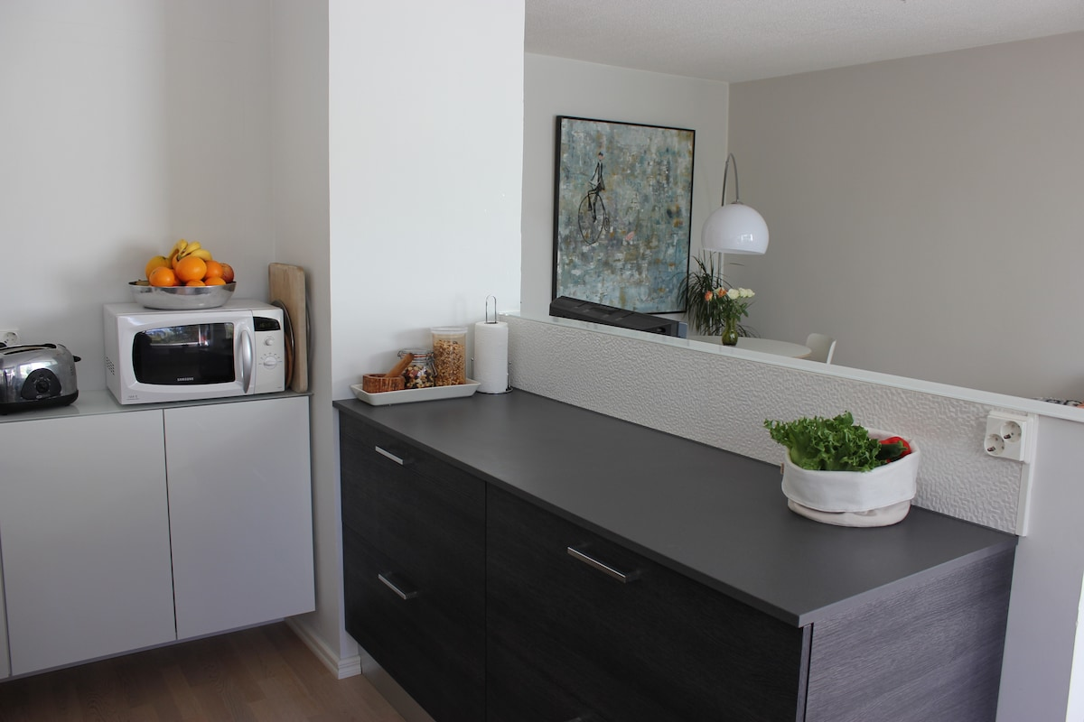 Spacious flat w/ great connections