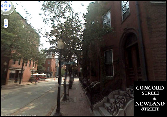 Here is a shot of the historic brownstown lined street of the South End out front
