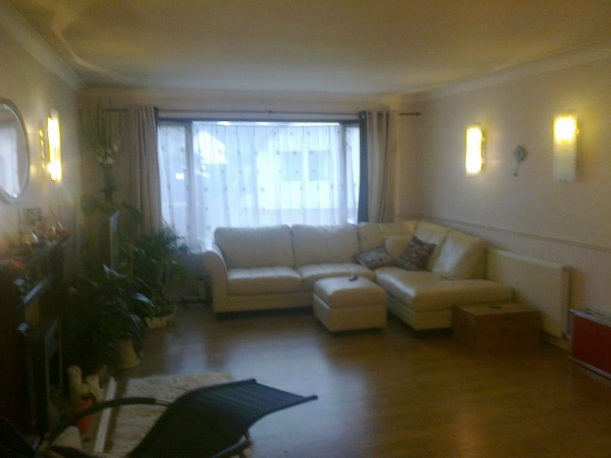 Huge airy sitting / dining room with TV, satellite and DVD player. Make yourselves comfortable.