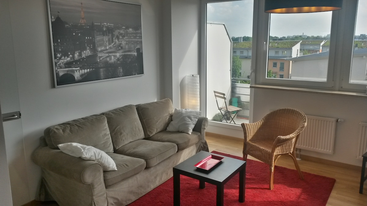 Bright apartement with Alps view!