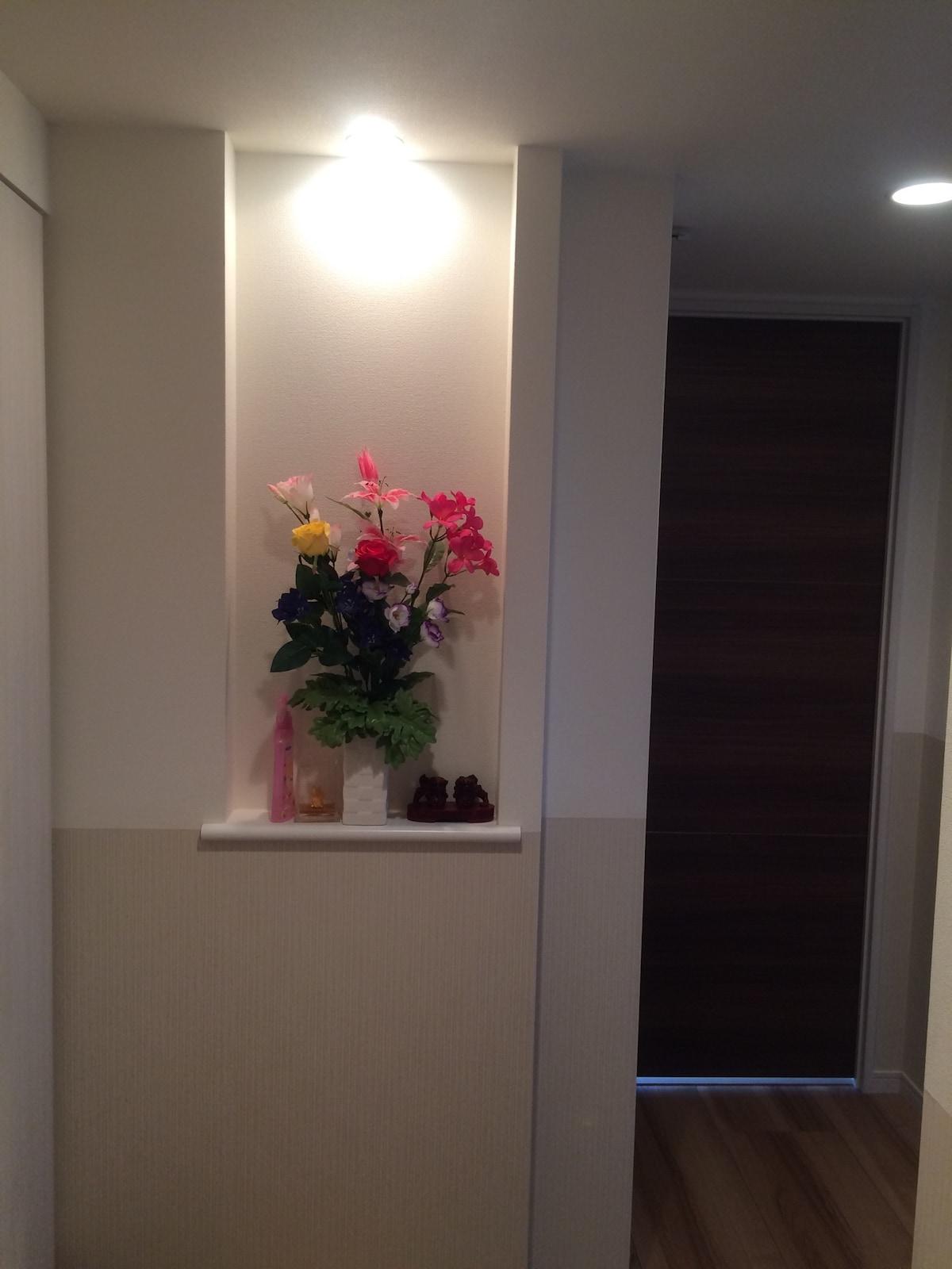 東京都内へアクセス良い場所。個別の部屋で素敵な景色を見られます。