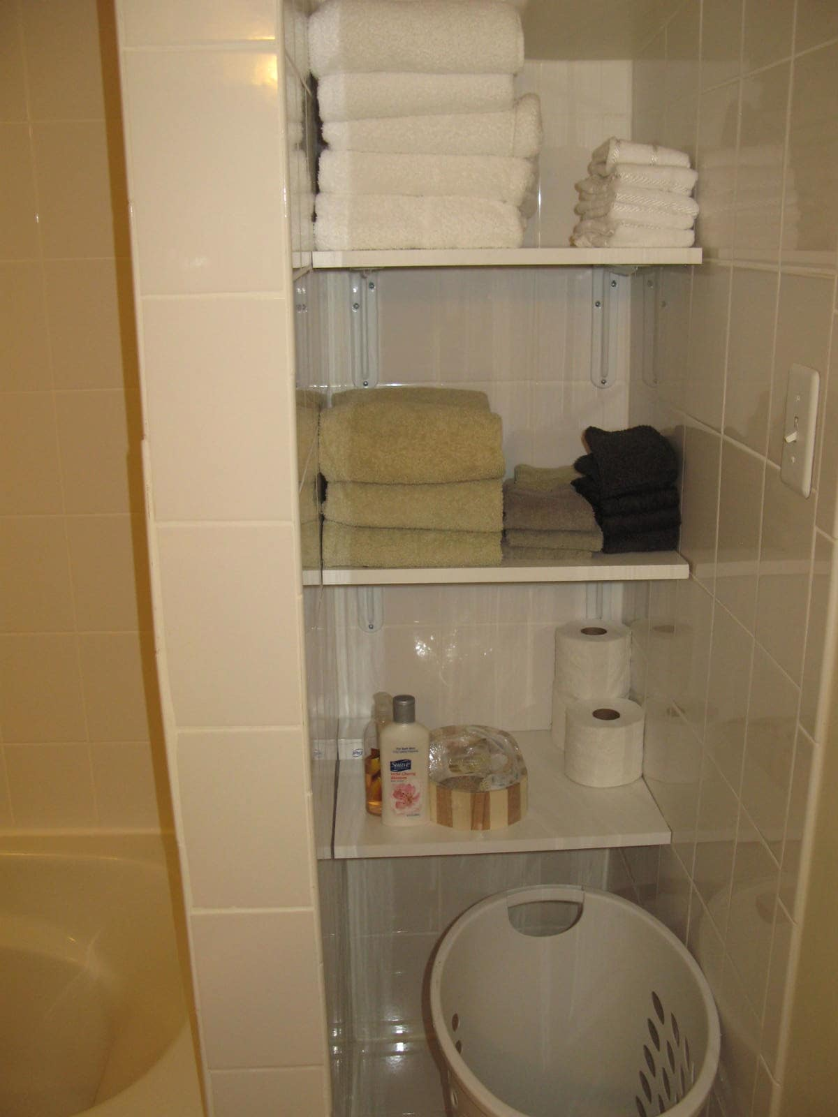 towels, toiletries stocked for your use
