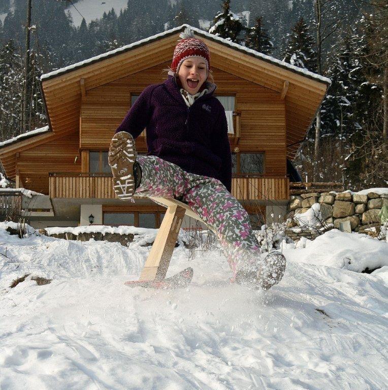"""Wintersport direkt vor der Ferienwohnung """"Huli"""""""