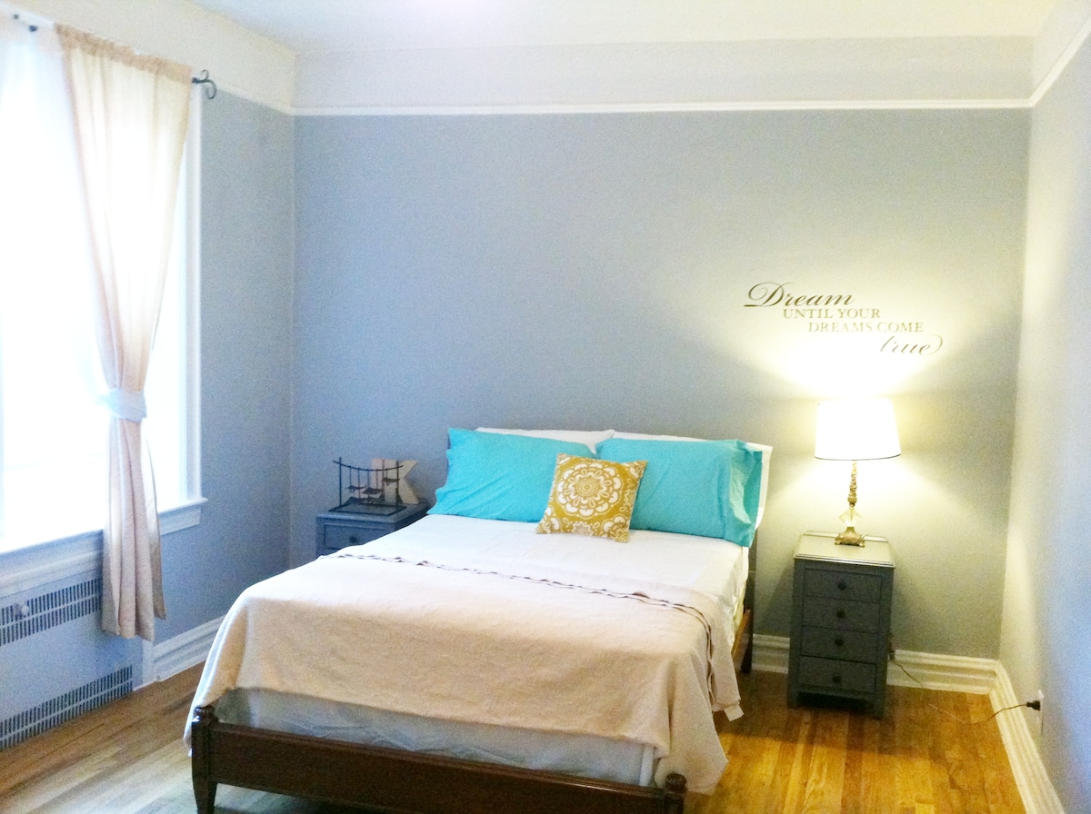 Come rest your head here in our serene bedroom.