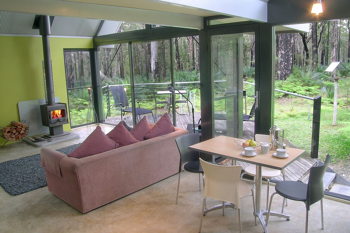 Expansive forest views from inside your Bower