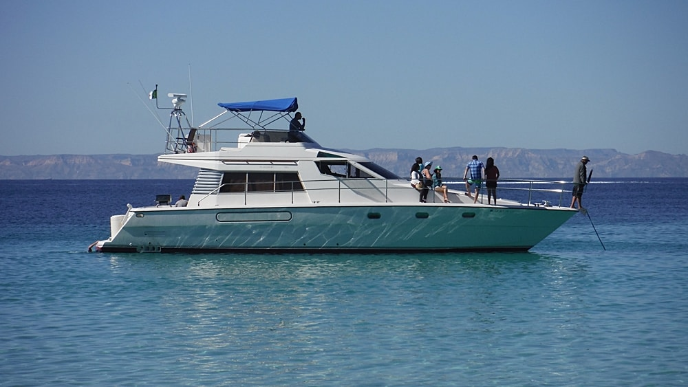 52' Yacht on the Bay of La Paz
