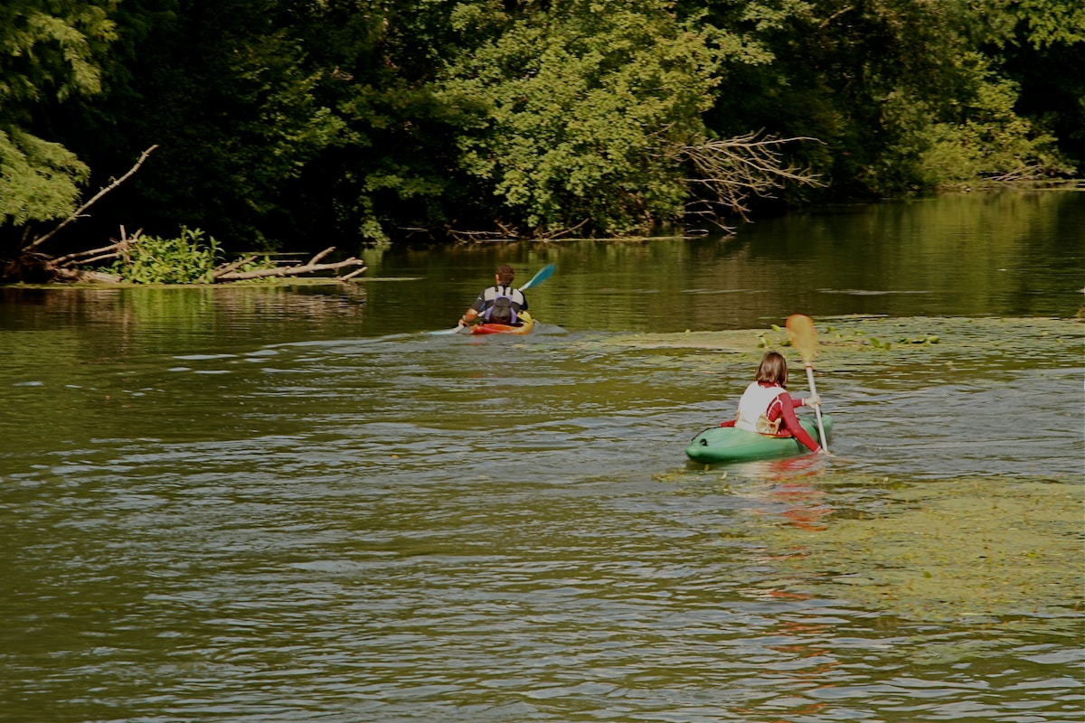 always so much fun to paddle down the river