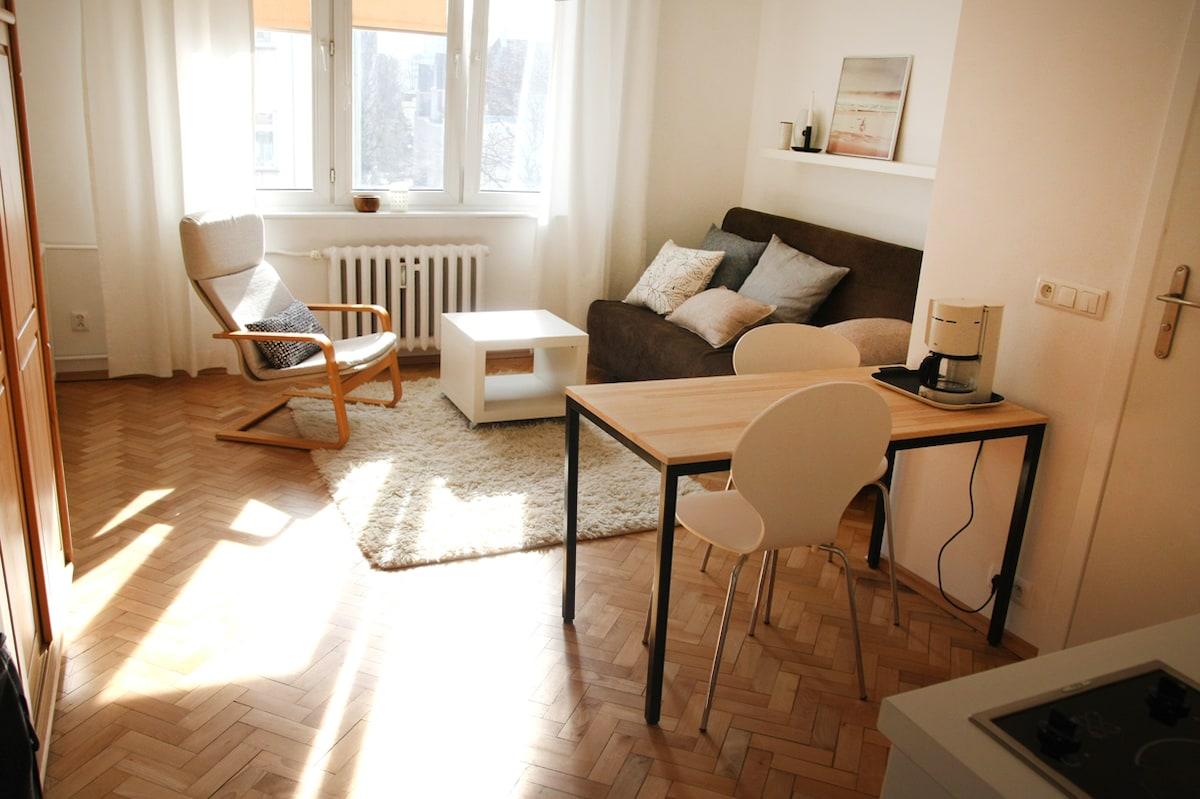 cosy studio in the city centre