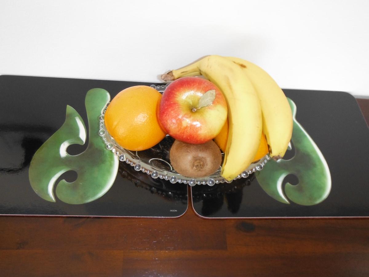 Selection of seasonal fruit.