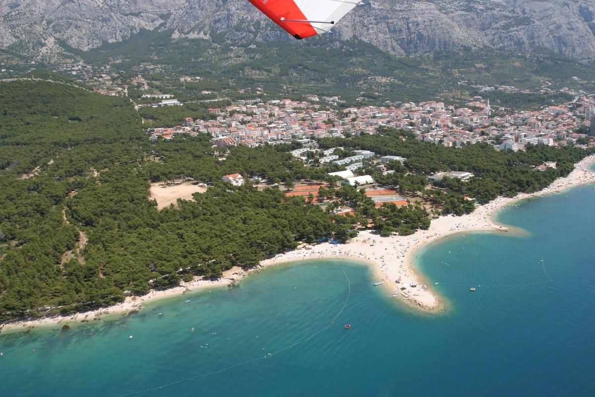 Nice beach 100 m from house