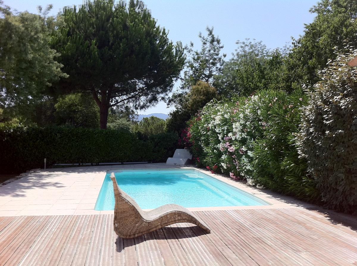 Prox Cannes chambres villa piscine