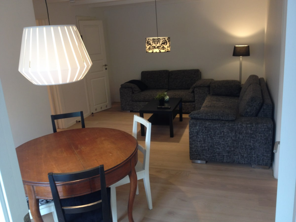 3 room apartment with garden.