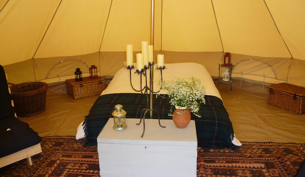 Furnished Canvas Bell Tent