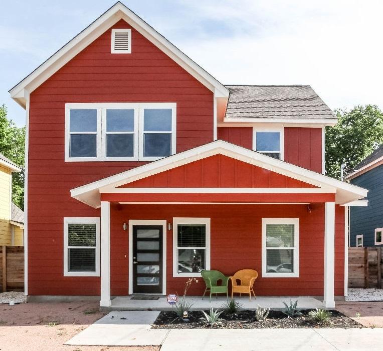 Eccentric Orange East Austin Home