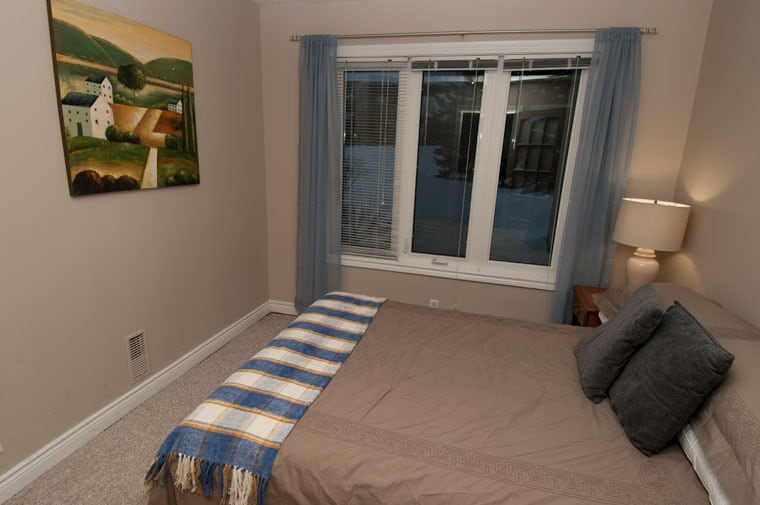 Main floor bedroom with double bed