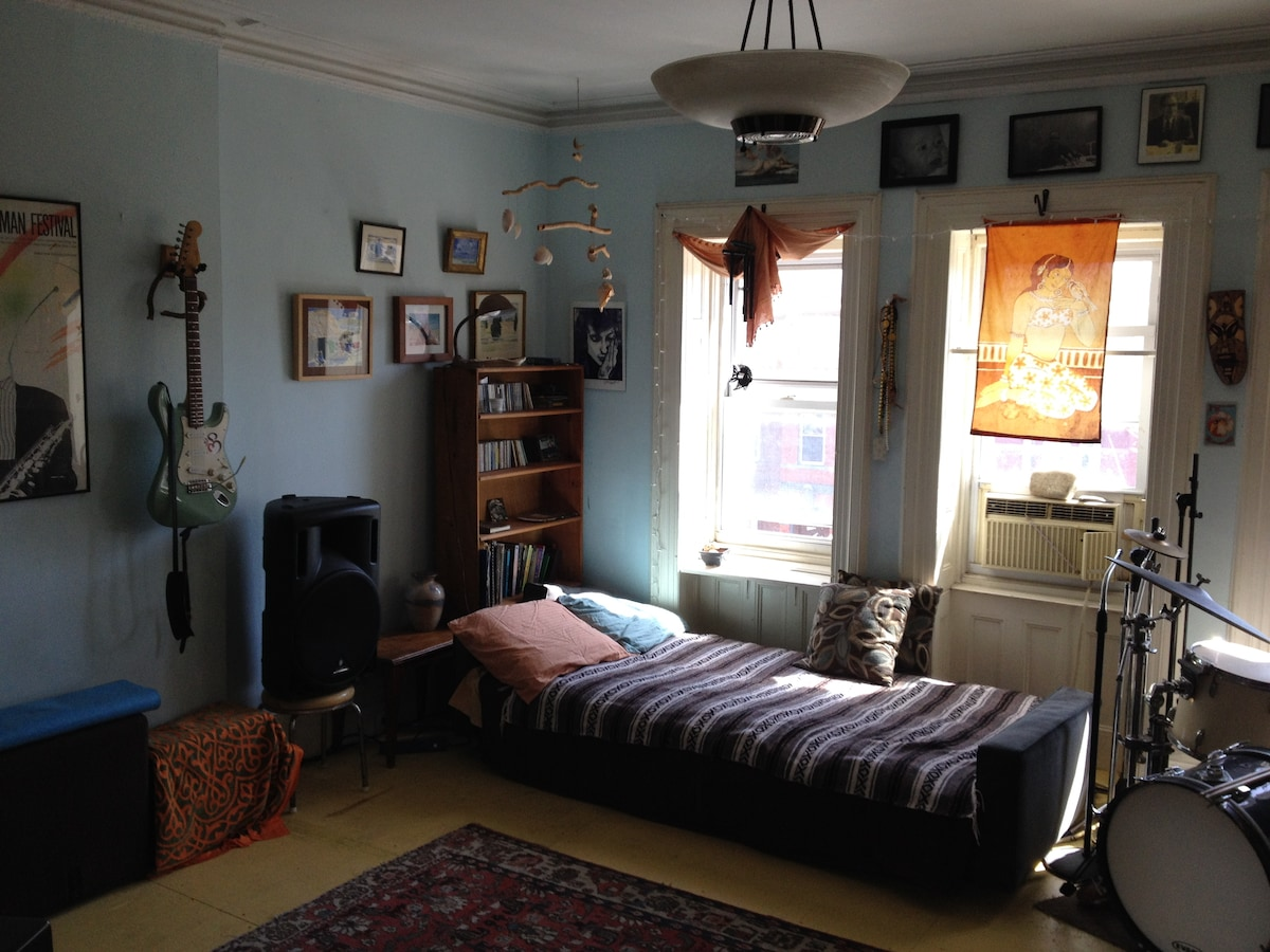 Large sunny BR in Crown Heights