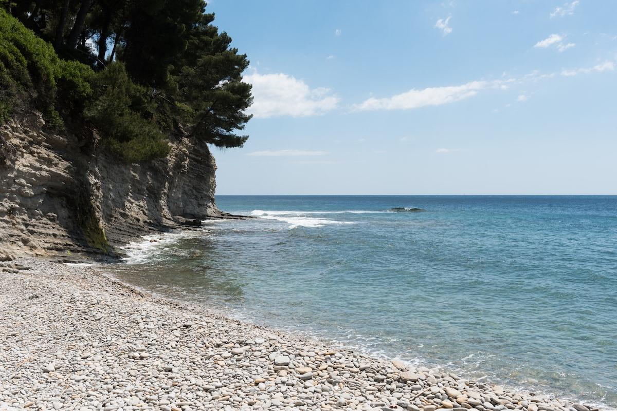 Jolie studio avec plage privée