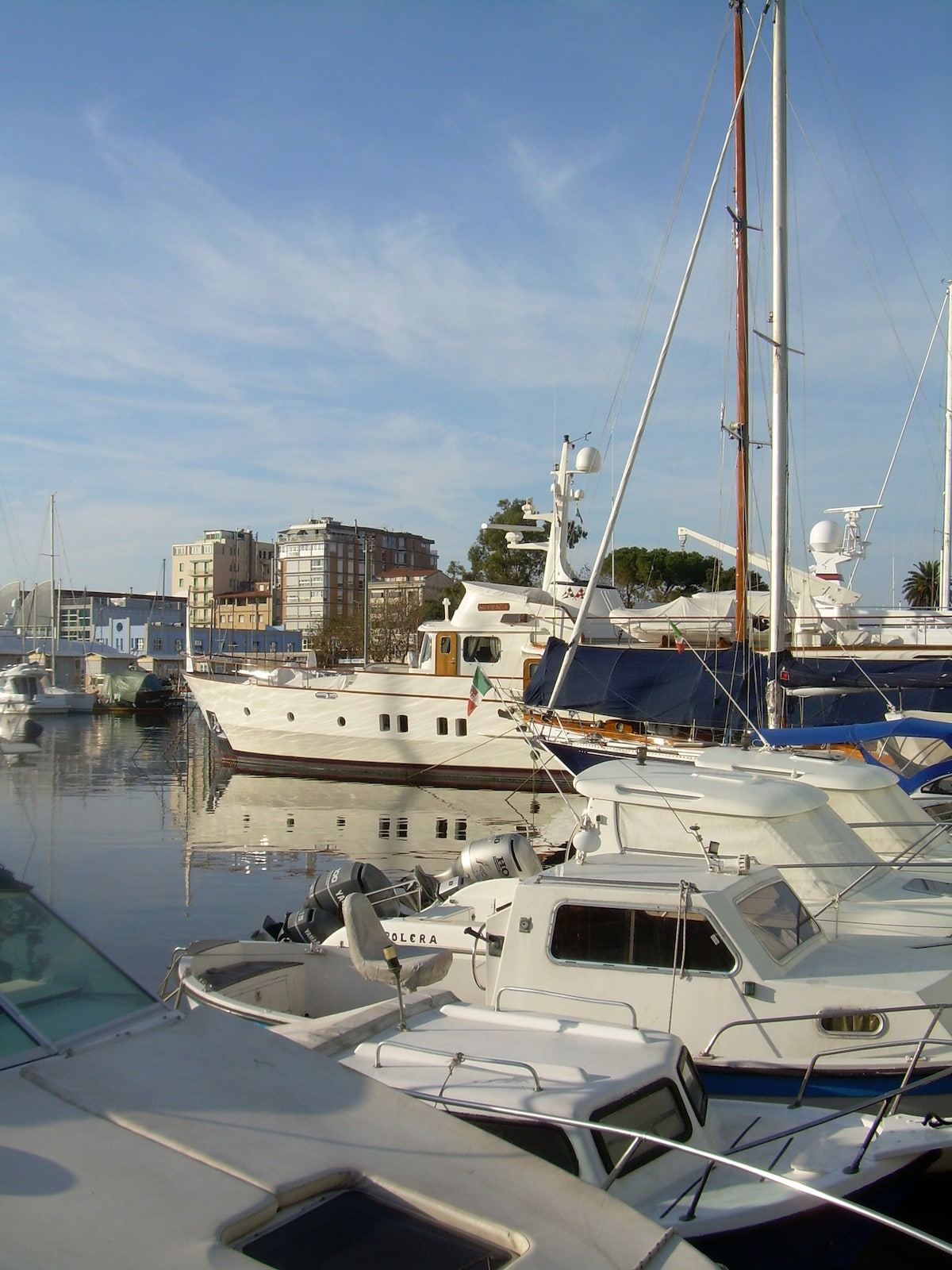 the marina: close to the house, a wonderful showcase for some of the best yachts in the world
