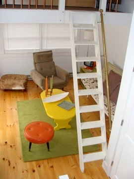 Stairs to the other loft