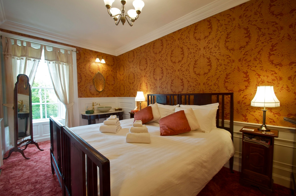 The brand new Amber Room Room set up as double - expect feather-down duvets and pillows, the finest cotton bed linen and high quality mattress.