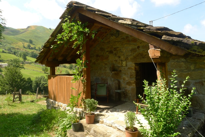 Typical mountain cabin in Cantabria