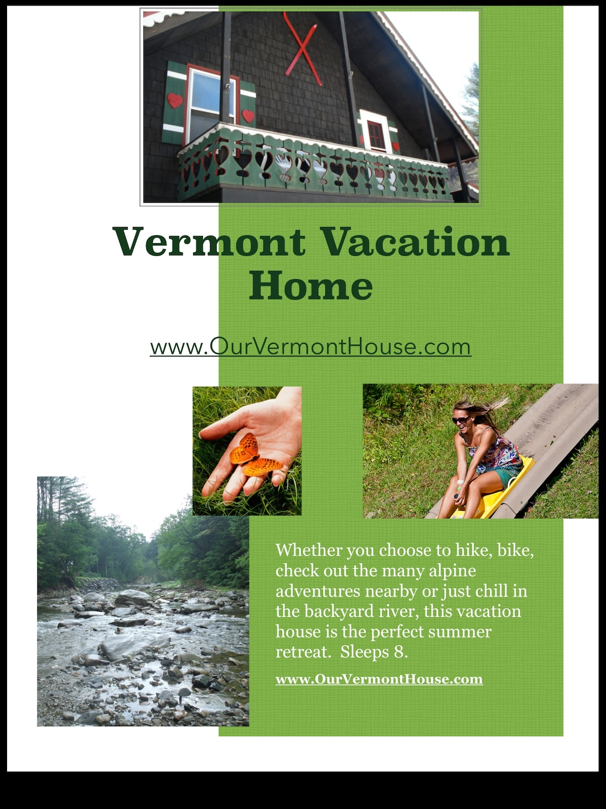 Vermont vacation retreat on river
