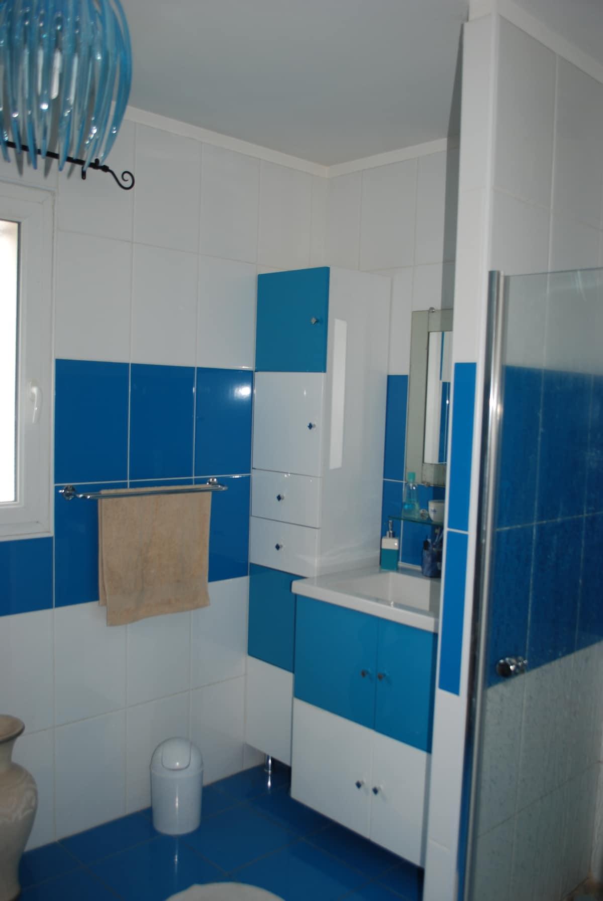 salle de bains 8m2