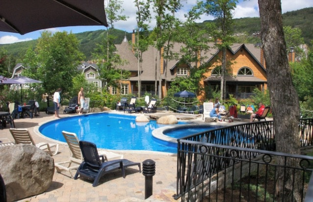 Poolside Escape in Tremblant