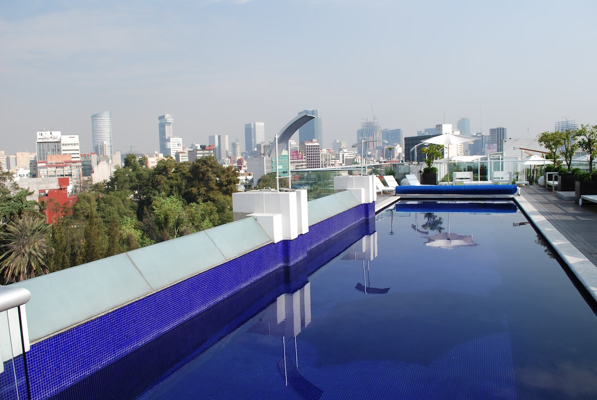 Condesa+Heated Pool+Gym+Security