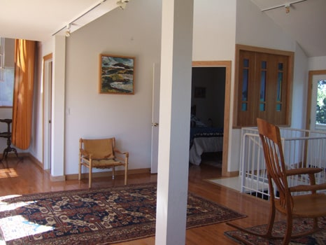 Wine Country Airplane House Entryway and Great Room