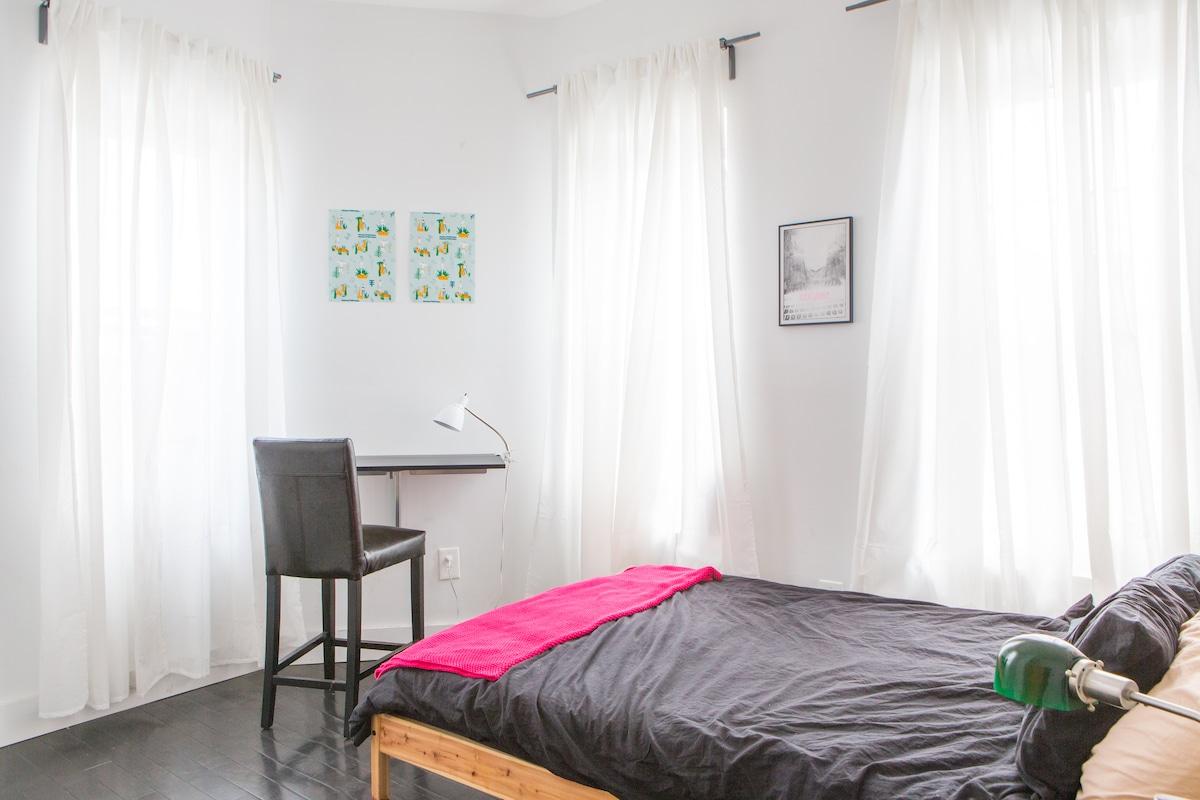 Bright, top-floor Bed Stuy room