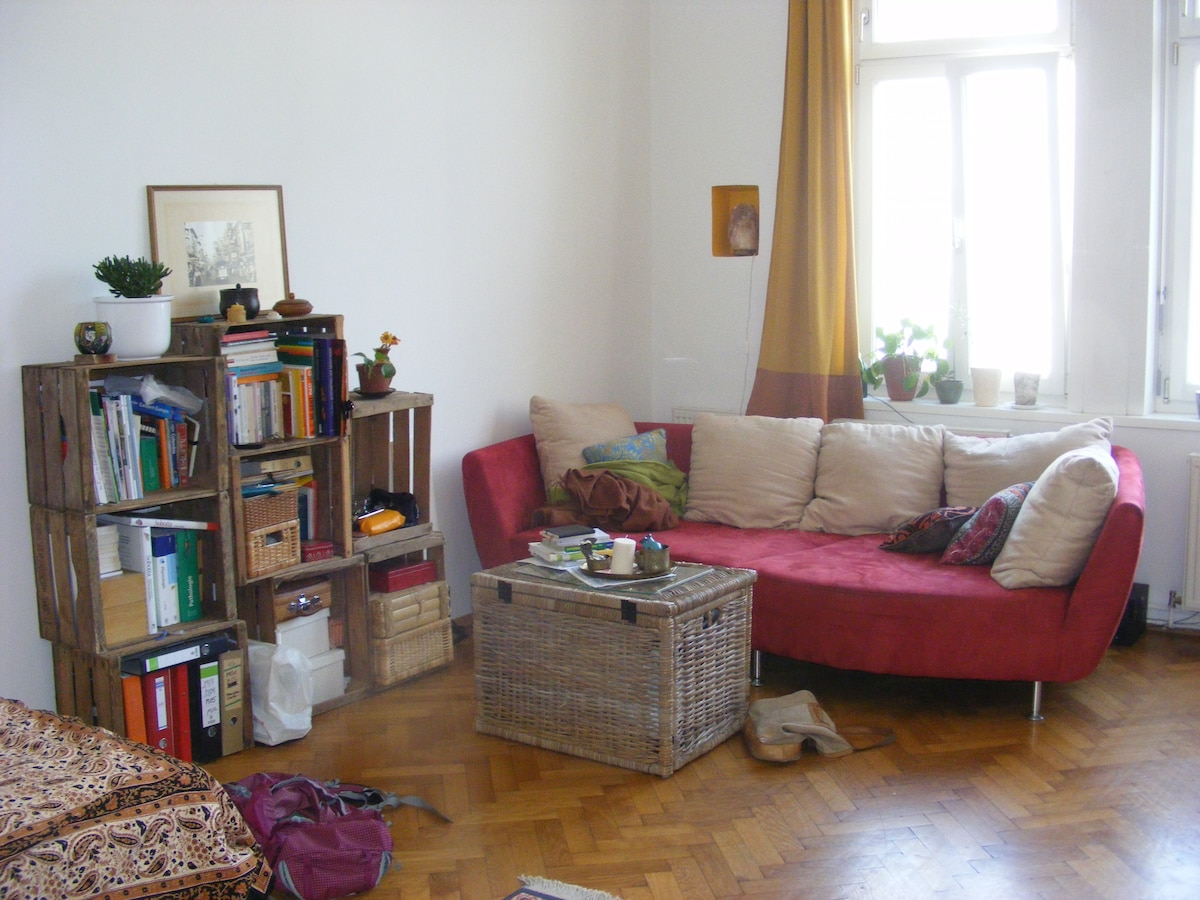 Spacious&bright room in shared flat