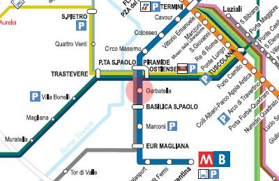 the apartment is 100 meter away from Garbatella metro station