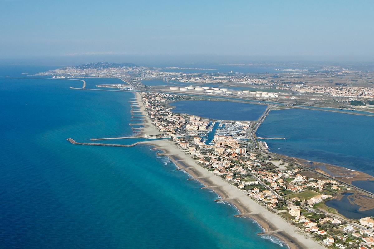 T2 Frontignan plage - 50M de la mer