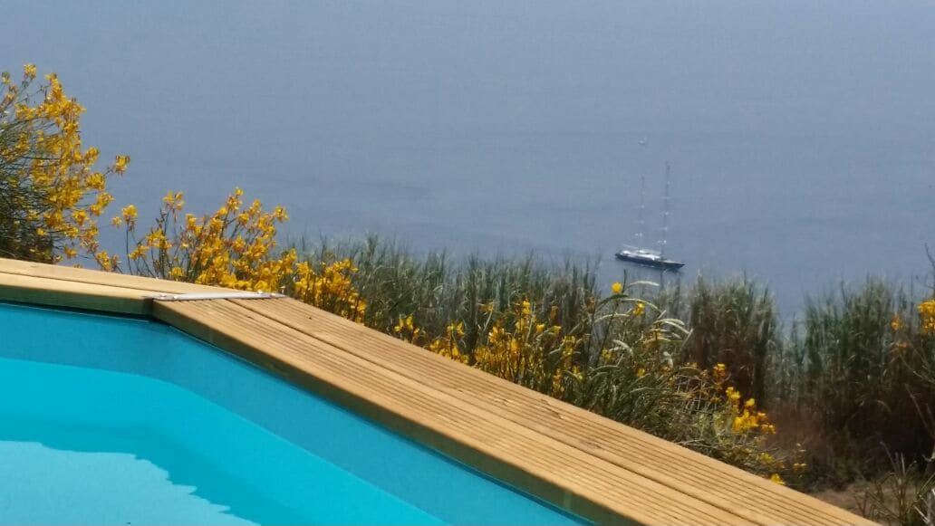 Private swimming  pool with view