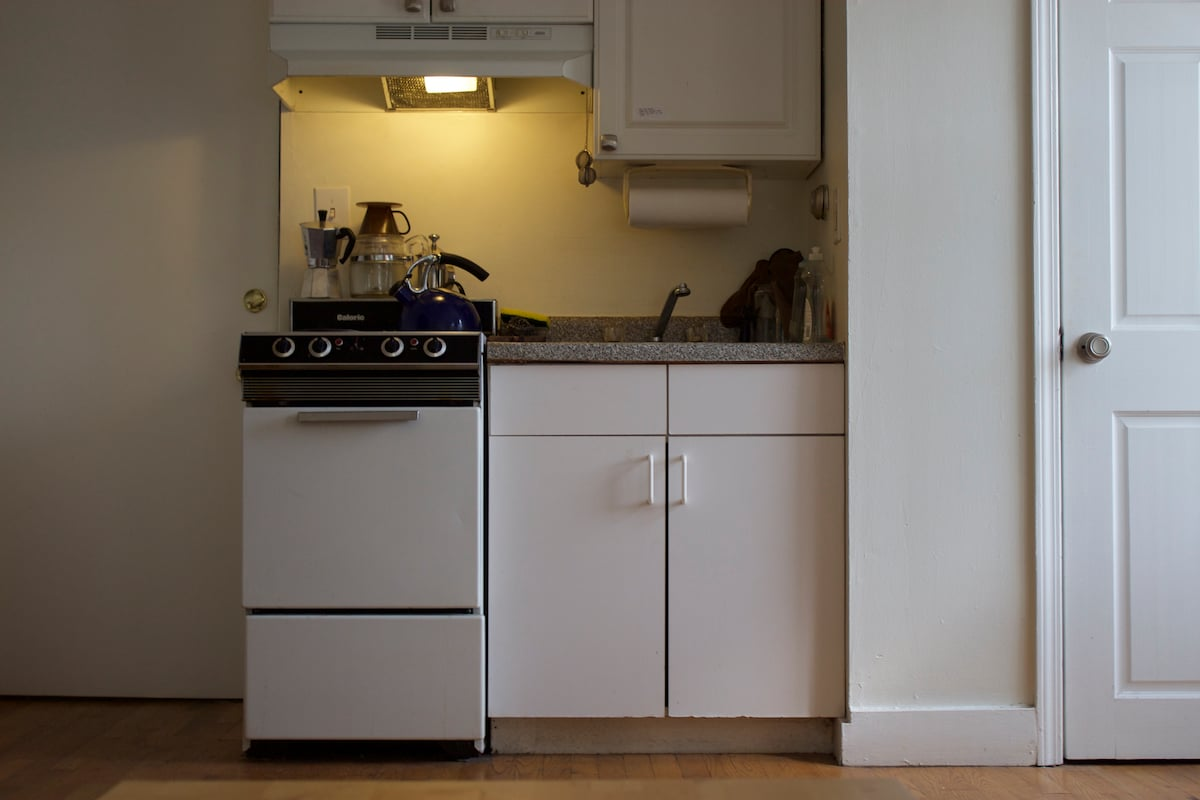 Kitchenette is small but capable!