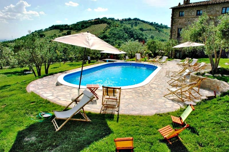 apartments in castle near to Assisi