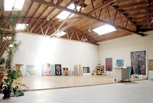The studio space with sprung wood floor is suitable for painting, film/video shoots, yoga, dance, and more.