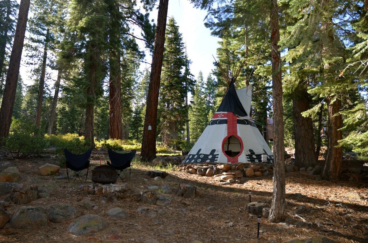 Fabulous Private Tipi @ Lake Tahoe!
