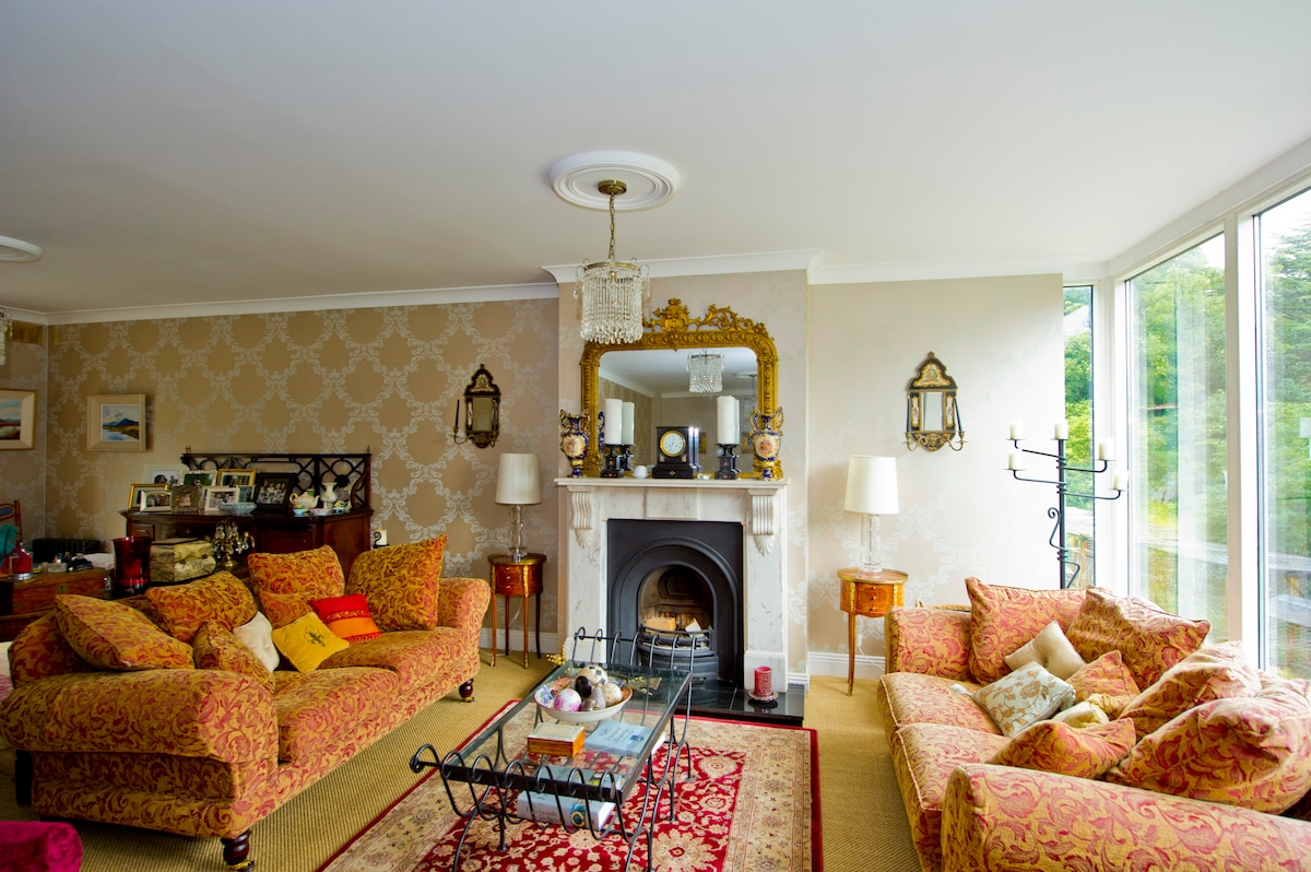 Guest Sitting Room with Open Fire