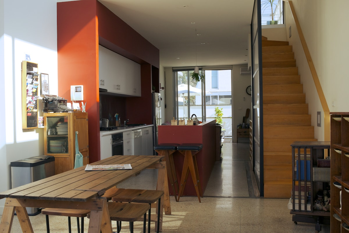 Level 2 dining room through kitchen to lounge & breakfast balcony