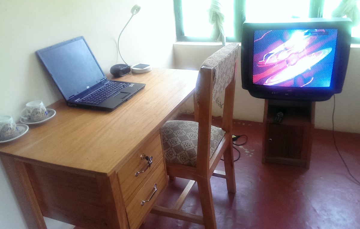 Your private desk in the bedroom. Laptop for free use
