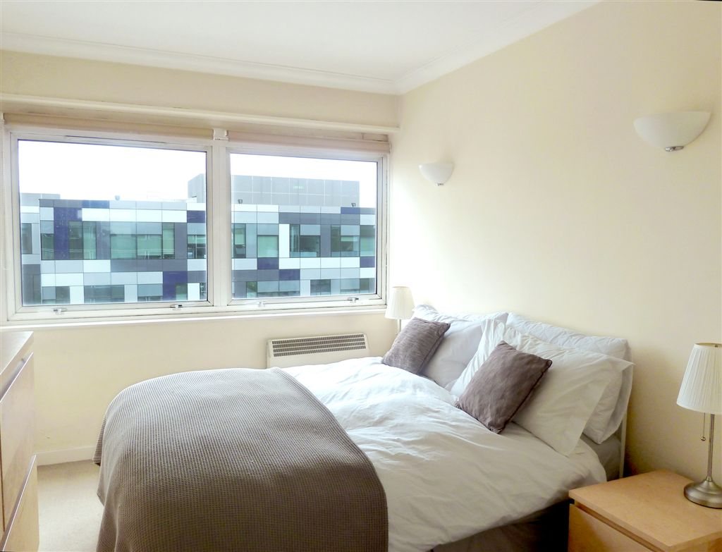 Bedroom: double bed, chest of drawers, double fitted mirrored wardrobe, black out blinds