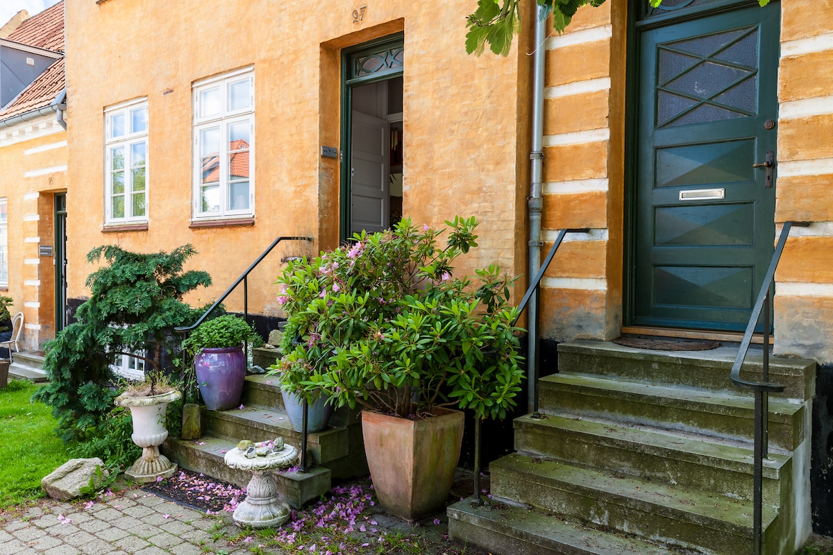 Old town house with small garden
