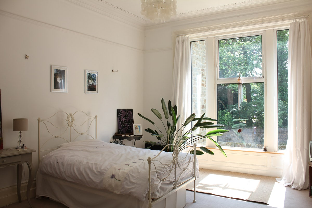 your bedroom with double bed