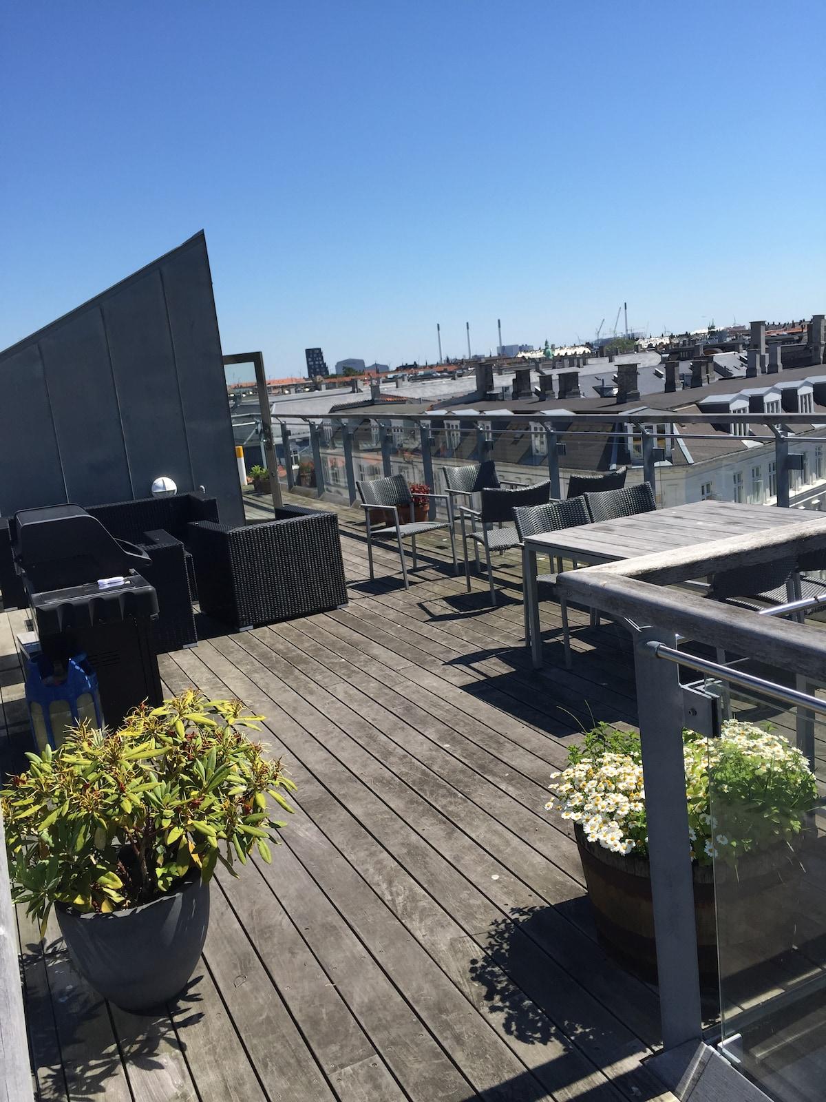 CPH Penthouse w. rooftop terrasse