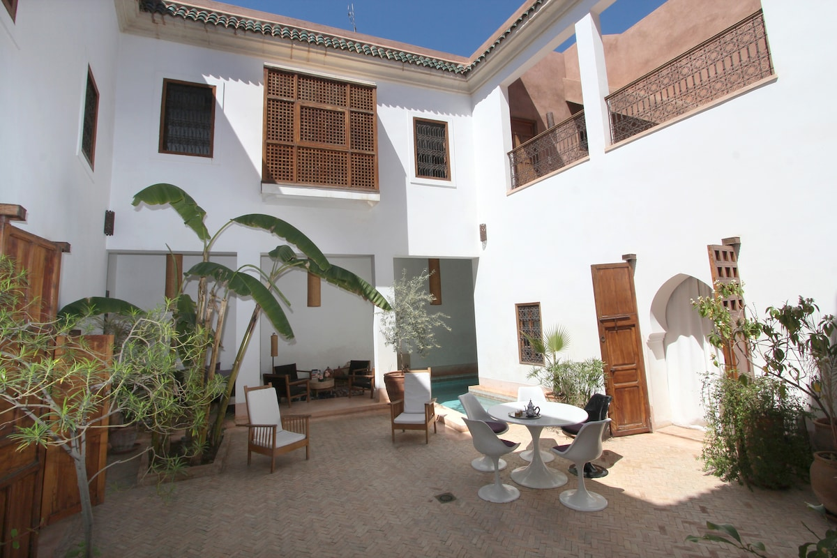 Suite nice for a family - Riad pool