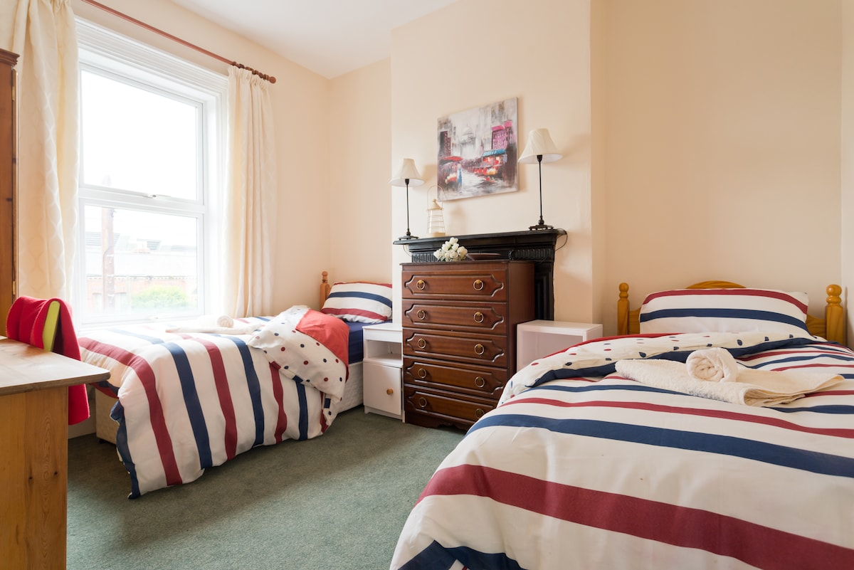Bright Comfortable Twin Room+Brkfst