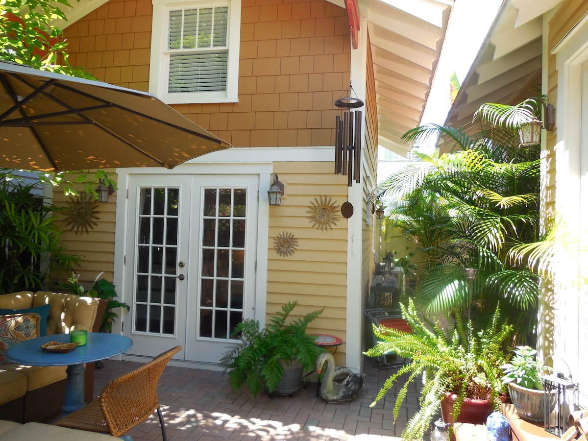 This space was a Model-T garage in the 1920's and is now a newly restored private cottage.