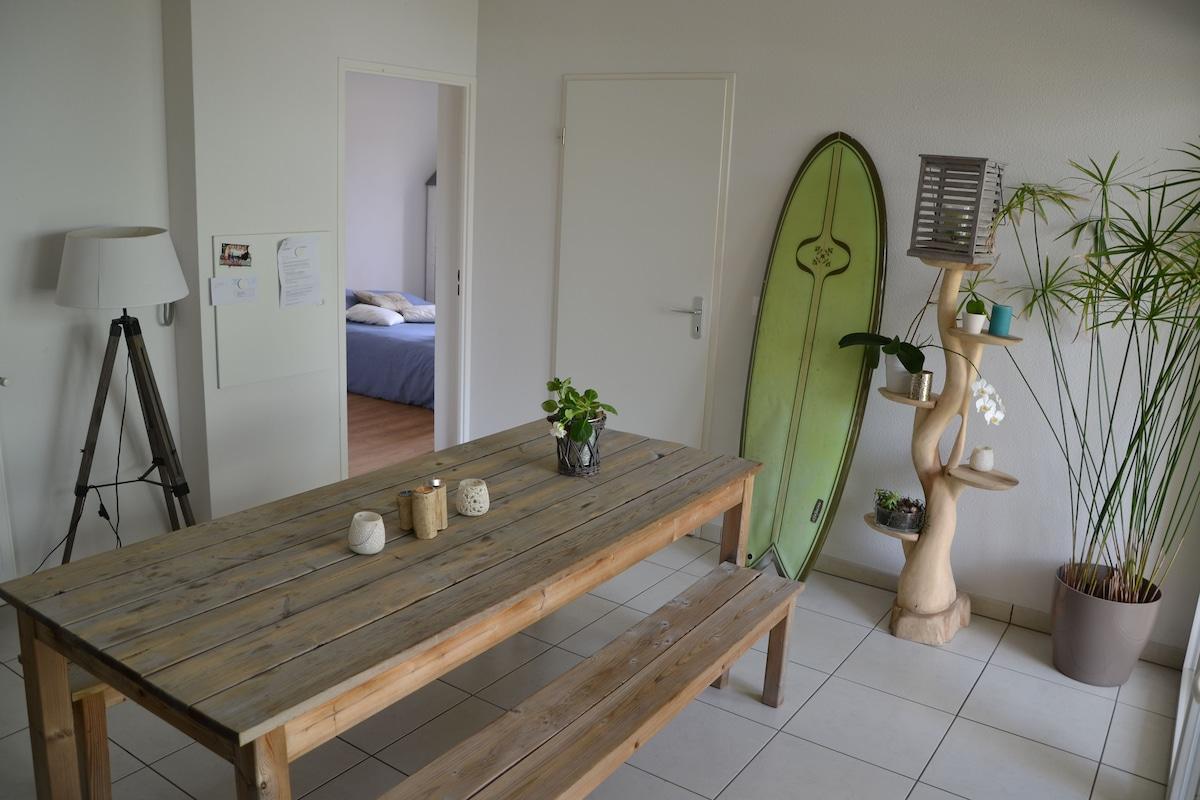 Chambre privée entre plage et ville